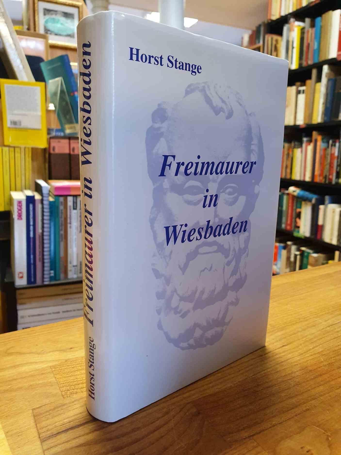 Stange, Freimaurer in Wiesbaden (signiert),