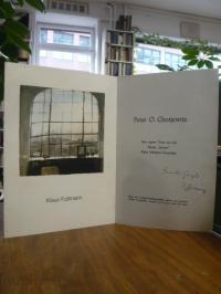 Fußmann, Einladungsklappkarte zur Eröffnung der Ausstellung Klaus Fußmann 'Bilde