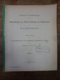 Burckhardt, Luthers Vorstellungen von der Entstehung und Entwicklung des Papsttu