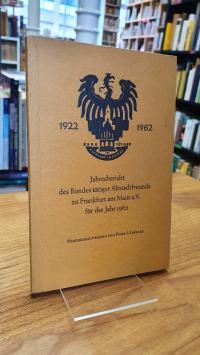 Innenstadt / Lübbecke, Jahresbericht des Bundes tätiger Altstadtfreunde zu Frank