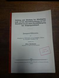 Kreismann, Umfang und Wirkung der Kündigung nach § 8 der Kartellverordnung bei d