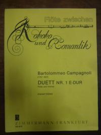 Campagnoli, Duett Nr. 1 E-Dur, Flöte und Violine – Flöte zwischen Rokoko und Rom