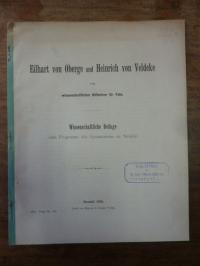 Felix, Eilhart von Obege und Heinrich von Veldeke,