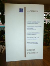 Wissenschaftlichen Gesellschaft an der Johann-Wolfgang-Goethe-Universität Frankf