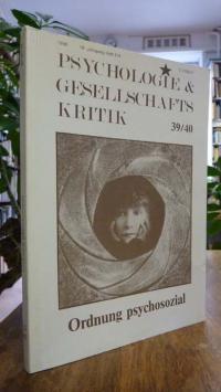 Psychologie und Gesellschaftskritik, 10. Jg. Heft 3/4 1986, Titelthema: 'Ordnung