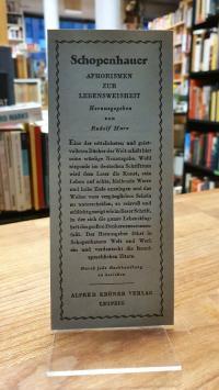 Schopenhauer, original Verlagswerbung Philosophie: Schopenhauer 'Aphorismen zur