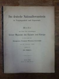 Pfeiderer, Das deutsche Nationalbewusstsein in Vergangenheit und Gegenwart,