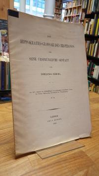 Ilberg, Das Hippokrates-Glossar des Erotianos und seine ursprüngliche Gestalt –