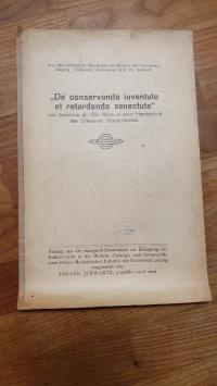 "Schwartz, ""De conservanda iuventute et retardanda senectute"" von Arnaldus de Vil"