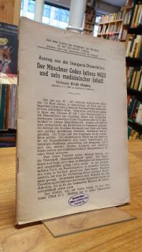 Maske, Der Münchner Codex latinus 4622 und sein medizinischer Inhalt – Auszug au