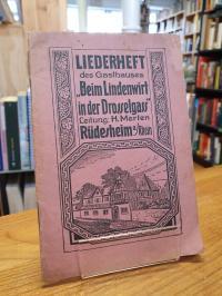 Hotel Lindenwirt (Rüdesheim am Rhein), Liederheft der altrheinischen Weinstuben
