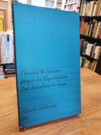 Adorno, Jargon der Eigentlichkeit – Zur deutschen Ideologie,