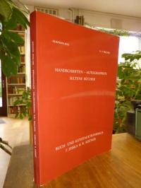 Buch- und Kunstauktionshaus F. Zisska & R. Kistner, Auktion 19/II: Handschriften
