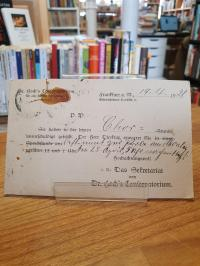 original Postkarte, Hoch's Konservatorium: Rüge wegen Chor-Schwänzens,
