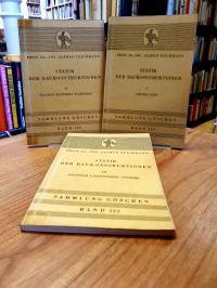Teichmann, Statik der Baukonstruktionen, Bände 1-3 (so komplett), 1: Grundlagen,