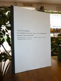 Schmidt, Texte der Ausstellungen im Frankfurter Kunstverein und in der Dreikönig