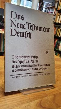 Lohse Eduard, Das Neue Testament Deutsch – Neues Göttiger Bibelwerk – herausgebe
