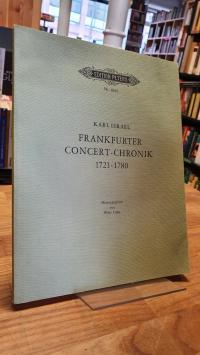 Israel, Frankfurter Concert-Chronik von 1721 – 1780 – Reprographischen Nachdruck