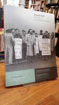 Fritz-Bauer-Institut, Einsicht 2019 – Bulletin des Fritz Bauer-Instituts: Antizi
