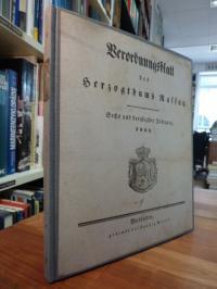 Staat Nassau, Verordnungsblatt des Herzogthums Nassau, 36. Jahrgang 1844,