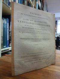 Matthiae, Examinis et Lustrationis Scholasticae Solennia Jussu et Auctoritate Ve