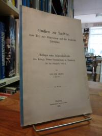 Tacitus / Gross, Studien zu Tacitus, zum Teil mit Hinweisen auf die deutsche Lit