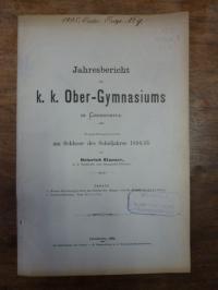 Dewoletzky, Teil 1. Neuere Forschungen über das Gebiss der Sänger, Teil 2. Schul