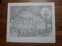 Dittmann, Genrebild: Die Alte Oper Frankfurt am Main um 1910, (signi