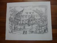 Dittmann, Genrebild: Die Hauptwache [in Frankfurt am Main um 1910],