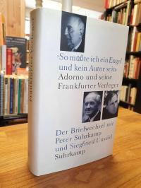 """Adorno, """"So müßte ich ein Engel und kein Autor sein"""" – Adorno und seine Frankfur"""