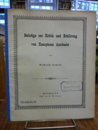 Reichau, Beiträge zur Kritik und Erklärung von Xenophons Anabasis,