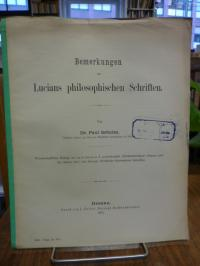 Schulze, Bemerkungen zu Lucians philosophischen Schriften,