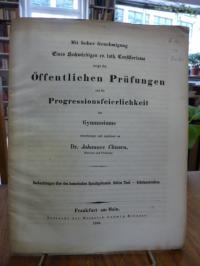 Homer / Classen, Beobachtungen über den homerischen Sprachgebrauch – Dritter (3.