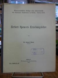 Blach, Herbert Spencers Erziehungslehre,