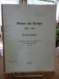 Zugwurst, Weimar und Preußen 1849-1851,