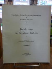 Kaiser-Friedrich Gymnasium Frankfurt (heute: Heinrich-von-Gagern-Gymnasium) / Tr