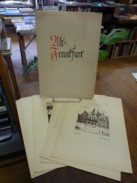 Dörr, Alt-Frankfurt, Mappe mit 7 Reproduktionen von Federzeichnungen,
