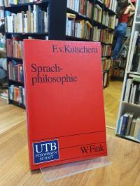 Kutschera, Sprachphilosophie,