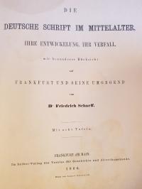 Scharff, Die deutsche Schrift im Mittelalter – Ihre Entwickelung, ihr Verfall, m