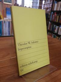 Adorno, Impromptus – 2. Folge neu gedruckter musikalischer Aufsätze,