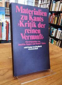 """Materialien zu Kants """"Kritik der reinen Vernunft"""","""