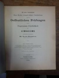 Rumpf, Teil I: De foliis quibusdam m.scriptis, quae in bibliotheca gymnasii Fran