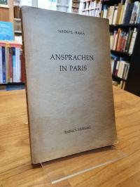 Baha, Ansprachen in Paris,
