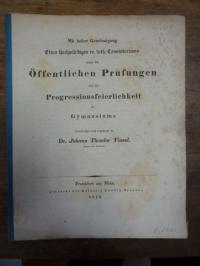 Schwenk, Teil 1: Ueber des Sophokles Antigone, Teil 2: Schulnachrichten,