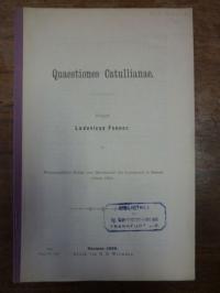 Fenner, Quaestiones Catullianae,