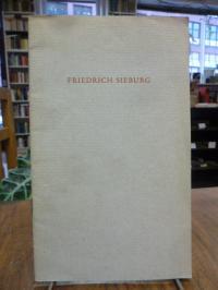 Friedrich Sieburg feiert am 18. Mai 1958 seinen 65. Geburtstag,
