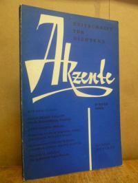 Akzente – Zeitschrift für Dichtung / Heft 2/ April 1960/ 7. Jahrgang,