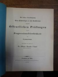 Schwenk, Teil 1: Ueber des Sophokles Philoktetes, Teil 2: Schulnachrichten (Joha