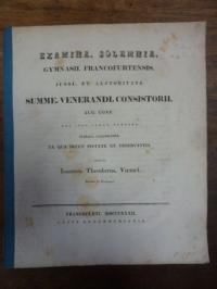 Voemel, Exercitatio Chronologica de Aetate Solonis et Croesi,