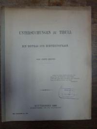 Henning, Untersuchungen zu Tibull,